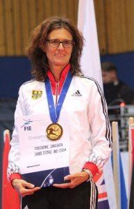 Friederike auf dem Podium der WM2016 in Stralsund